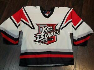 Kansas City KC Blades Hockey Jersey Boys Small by SP Made in Canada EUC Outdoors