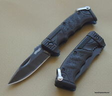 WALTHER MICRO PPQ MINIATURE LINERLOCK FOLDING KNIFE  - 4.25 INCH OVERALL