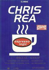 RARE / TICKET BILLET DE CONCERT - CHRIS REA : LIVE A MARSEILLE ( FRANCE ) 1994