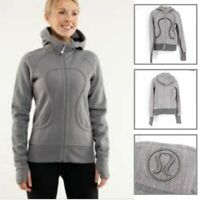 Lululemon Women's Jacket W/ Hood Casual Full Zip Closure Long Sleeve Gray Size 2