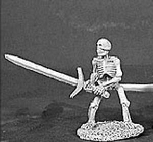 1x SKELETON 2H SWORD - DARK HEAVEN LEGENDS REAPER miniature rpg raised 06052l