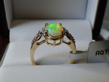 Ethiopian Opal and Diamond Gold Ring  - Beautiful