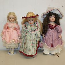"Lot of Five (5) Porcelain Dolls, 16"" Tall, No Boxes TN02208"