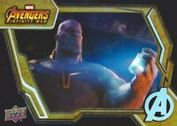 2018 Upper Deck Marvel Avengers Infinity War Tier 1 Base Set Trading Card #9