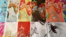 Joblot 24 pcs Butterfly & Flower design chiffon scarf wholesale 50x160 cm Lot 18