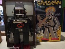 2014 HA HA Toys TR2011 ELECTRONIC SMOKING SPACEMAN Tin Toy MIB