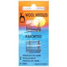 Pony Wool Gold Eye Needles Assorted Pack Craft Sewing Knitting