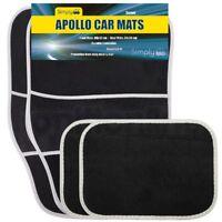 Simply Apollo Car Mats 4 Piece Universal Fit Black Carpet Reliant Front & Rear