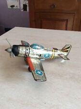 Rarissimo aereo in latta a frizione della ASE Made in japan anni 70 collezione