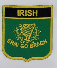 Ireland IRISH ERIN GO BRAGH Embroidered Sew/Iron On Patch Patches
