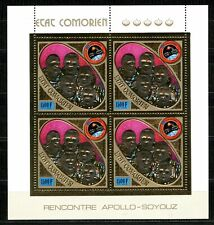 Comores APOLLO SOYOUZ space 1975 Gold Foil  Or  MICHEL 255 A cote 68 euros
