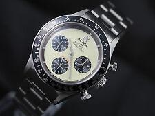 Alpha mechanical chronograph men's watch display back
