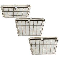 Gold Rectangular Wire Storage Baskets Metal Shower Bathroom Accessories Holders
