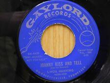 Linda Manning 45 Johnny Kiss & Tell / Thanks A Lot... - Gaylord VG teen rock