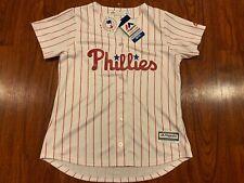 Majestic Women's Philadelphia Phillies Coolbase Baseball MLB Jersey Medium M
