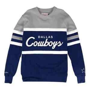 NEW Dallas Cowboys Mitchell & Ness NFL Men's Head Coach Crew Sweatshirt