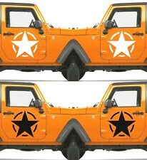 Set of 2 America US U.S Army Distressed Star Vinyl Decal Sticker Dodge & Ram V19