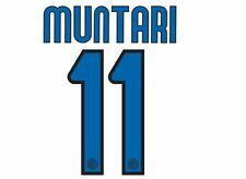#11 MUNTARI INTER MILAN 2009-2010 Away Maglietta da calcio Nameset per