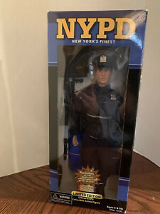 "NYPD Police Doll by Real Heros 9/11 Limited Ed 2002 Official New York PD 11"" NIB"