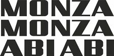 MONZA ABI Caravan Name Replacement Sticker Decal set x 4