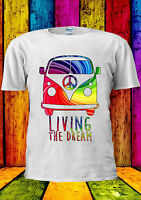 Camper Van Living The Dream Surf T-shirt Vest Tank Top Men Women Unisex 2053