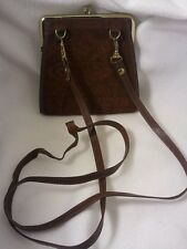 Vintage Rolfs Coin	 Style Purse Brown Clutch Leather with Strap