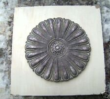 """Tuscan tile accent mold with raised center embellishment 11"""" x 11"""" x 1/2"""" thick"""