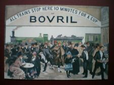 POSTCARD ADVERT R OPE - ALL TRAINS STOPS FOR A BOVRIL