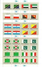 ONU UFFICIO NEW YORK 4 MINIFOGLI BANDIERE FLAGS ONU 1984 - 64 VALORI