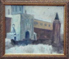 BEAUTIFULL ANTIQUE RUSSIAN OIL PAINTING, LISTED