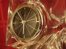 Daum France Crystal Table Clock signed [A?]
