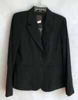 The Limited Blazer Size 8 Black Jacket Lined Career Work NEW Two Button