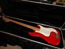 "Fender Bullet  USA P Bass Deluxe 1980 34"" scale w/ OHSC  Fullerton, Ca. factory"