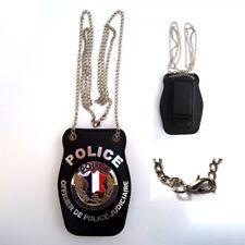 Porte insigne cuir Officier de Police Judicaire, Piel Cabrera