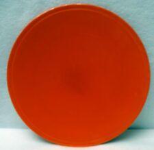 "HOMER LAUGHLIN china KITCHEN KRAFT Red pattern Round Cake Plate Platter 10-7/8"""