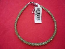 Peridot 925 Sterling Silver Bead Bracelet-8.00 inches-25.00 Carats