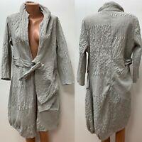 ABSOLUT by ZEBRA Gr.3 DE 42 - 44 lange Jacke Mantel Grau Silber Asymmetrisch