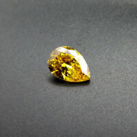 Yellow Zircon 50.75ct 18x25mm Pear Faceted Cut Shape AAAAA VVS Loose Gemstone