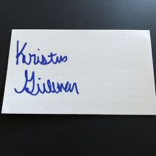 Kristen Gillman Signed Autographed 3x5 Index Card LPGA Golf