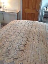 Stunning Cream Hand Crochet Throw/table Cloth