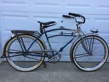 "IVER JOHNSON STREAMLINER DELUXE 1933 CIRCA MENS 26"" BALLOON TIRE  BICYCLE"
