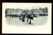 Northamptonshire Northants NORTHAMPTON Market Sq 1900s PPC Queens Arms to rear