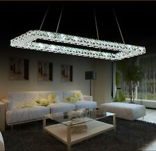 Modern Luxurious LED Crystal 70x20cm Rectangle Dining Room Chandelier Lighting
