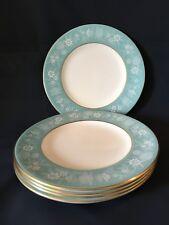 "5 Wedgwood Fieldfare (Turquoise Blue/Green) - 6""  Tea Plates - Duck Egg Blue?"