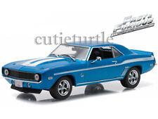 Greenlight Fast & Furious Brian's 1969 Chevy Yenko Camaro 1:43 Blue 86206