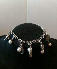 Vantel Pearl Your Story Charm Bracelet with 6 Charms. Sun, Paw Prints, ++, LOOK!