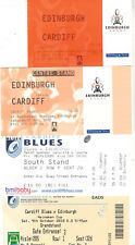EDINBURGH v CARDIFF RUGBY TICKETS 2002, 2005 & 2010