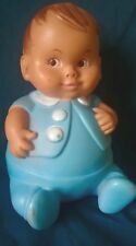 Vintage Uneeda Doll Co Inc 1967 Plum-Pees Baby Blue Rubber Doll Boy