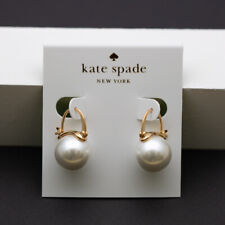 Kate Spade Faux Pearl Drop Earrings WHITE gold tone NEW