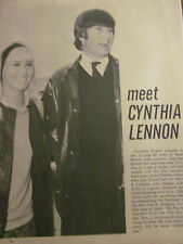 Cynthia Lennon, John Lennon, The Beatles, Full Page Vintage Clipping